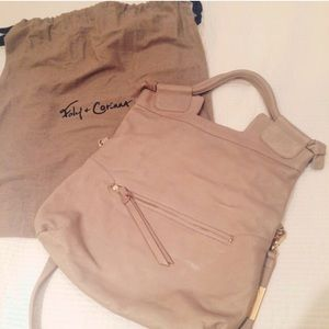 Foley + Corinna Mid-City Tote in Taupe/Gold